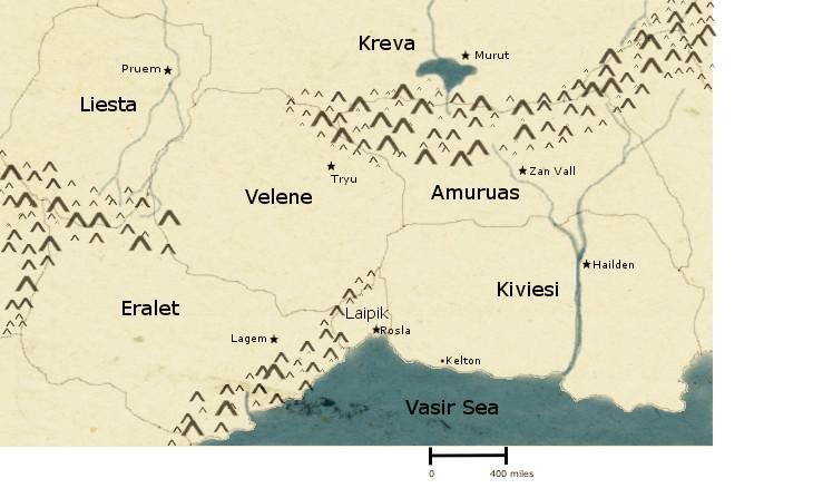 Fictional World Map terrain